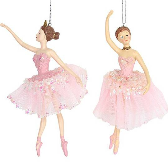 Resin and Fabric Pink Ballerina 16cm