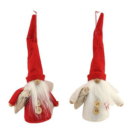 Frabric Nordic Santa w/Tall Hat