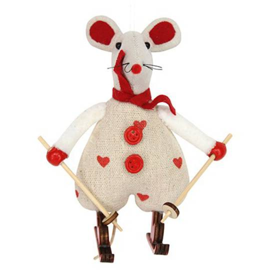 Calico and Fabric Sking Mouse
