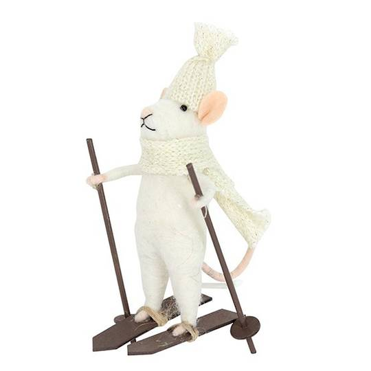 Eco Wool White Mouse Speed Sking 15cm