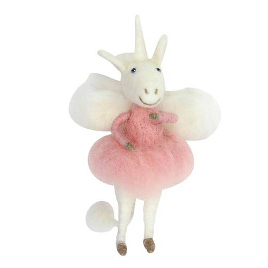Eco Wool White Unicorn Fairy 16cm