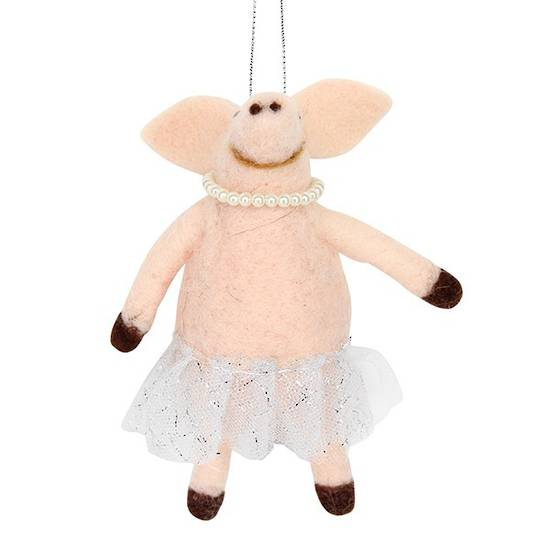 Eco Wool Pig in Tutu