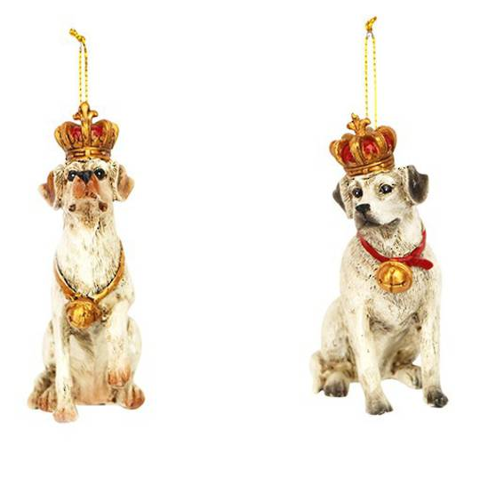 Resin Dog with Crown