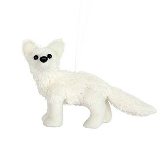 White Fabric and Bristle Fox Cub