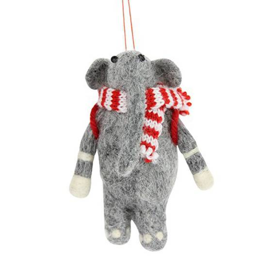 Eco Wool Elephant with Scarf