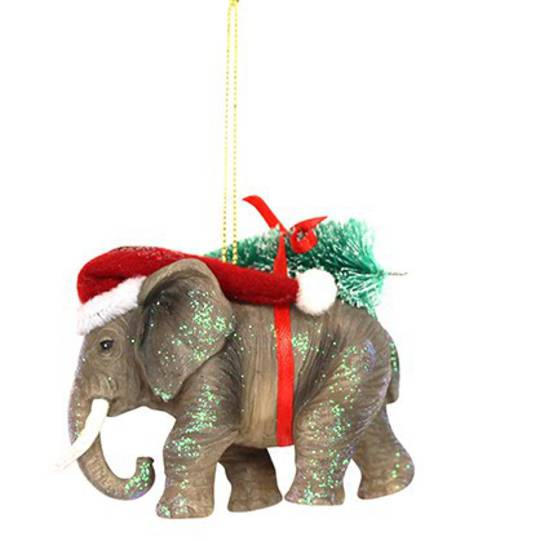 Resin Elephant in Santa Hat SOLD OUT
