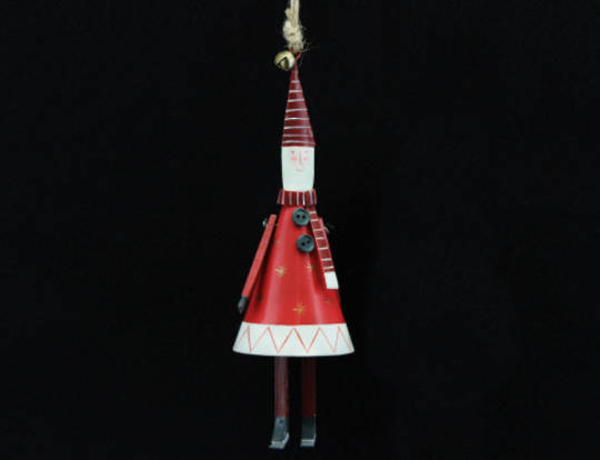 Hanging Tin Cone New England Santa