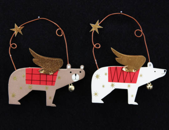 Hanging Wooden Forest Folk Bear