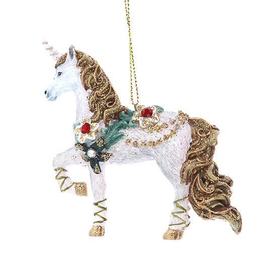 Resin Unicorn with Flower 10cm