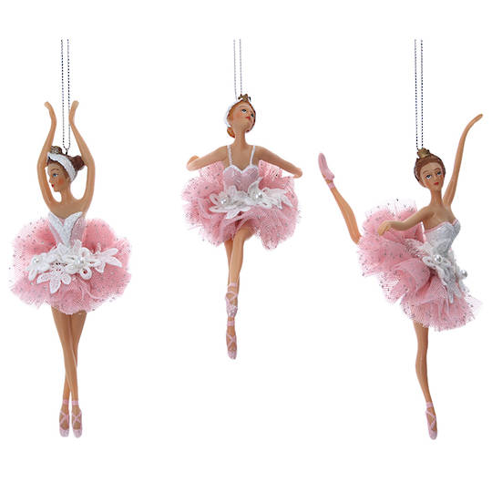 Resin Fabric Dusty Pink Ballerina 19cm SOLD OUT
