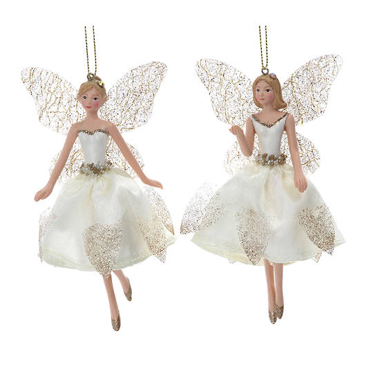 Cream Gold Peace Fairy Small 13cm