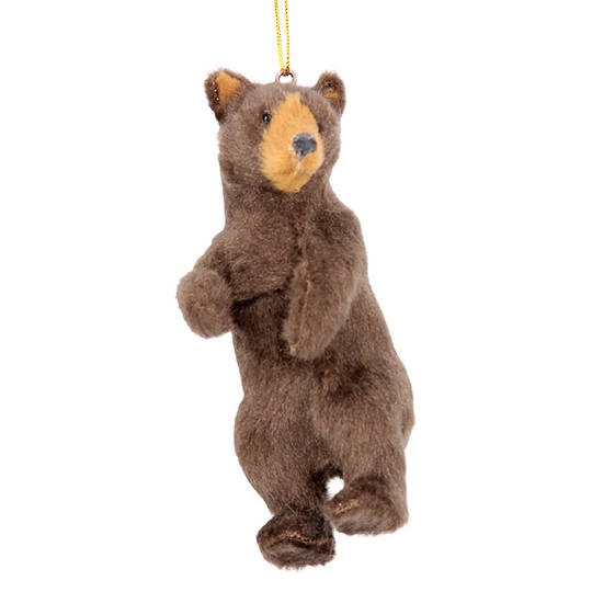 Hanging Faux Fur Bear 10cm