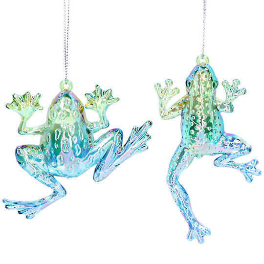 Acrylic Green Blue Frog 11cm SOLD OUT
