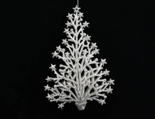 Silver Glitter Twig/Star Tree