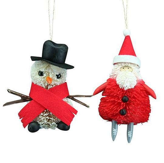 Bristle Christmas Characters 14cm each