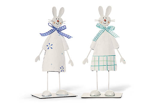 Tin Wobbly Tall Bunny 14cm, each