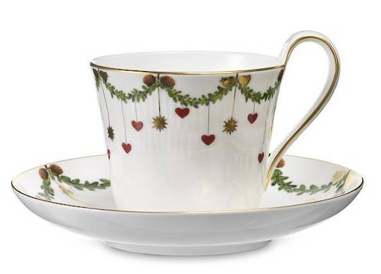StarFluted Christmas Cup & Saucer