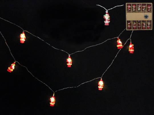 Glass Santa LED Lights 1.8 mtr