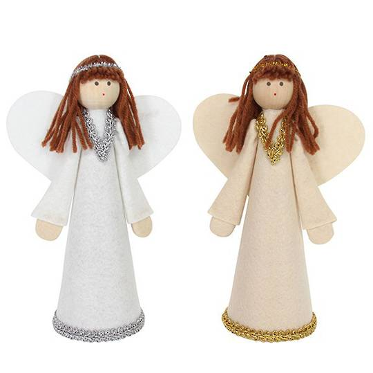 Felt Brunette Angel Topper