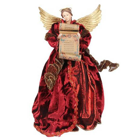 Red Nostalgic Angel Tree Topper SOLD OUT