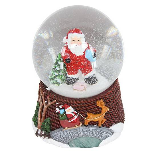 Musical Snow Globe, Santa in Dungarees SOLD OUT