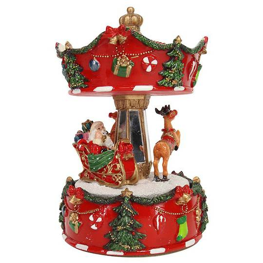 Musical Carousel with Santa Sleigh