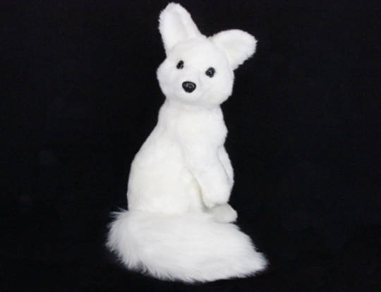 White Fur Fabric Sitting Fox
