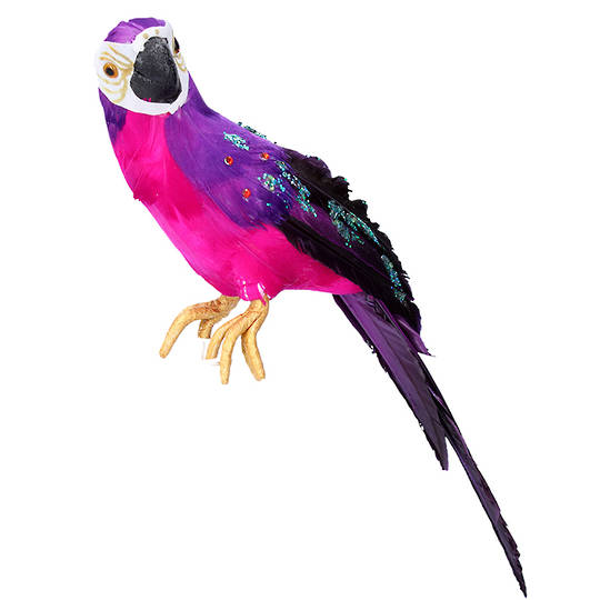 Feather Fuschia Purple Parrot 30cm SOLD OUT