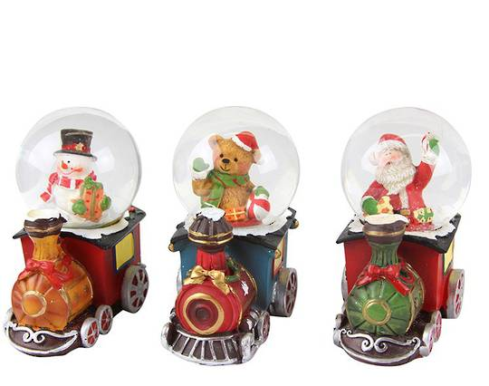 Mini SnowGlobe Train 7cm
