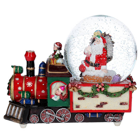 Musical Snow Globe, Train 22cm