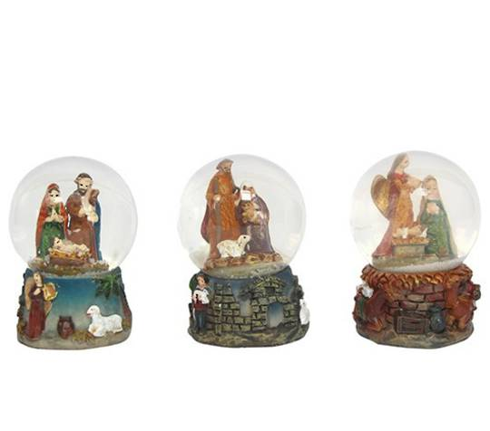 Mini Snow Globe, Nativity 5cm SOLD OUT