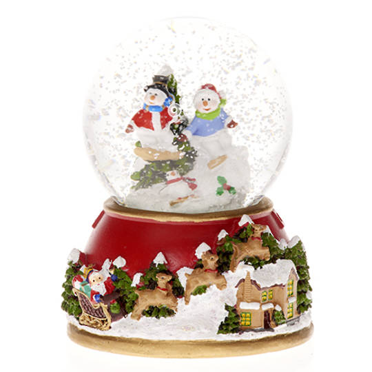 Musical LED SnowGlobe Snowmen with Tree