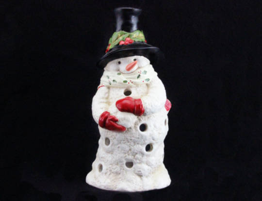 Toy Factory Ceramic Snowman Tea Light