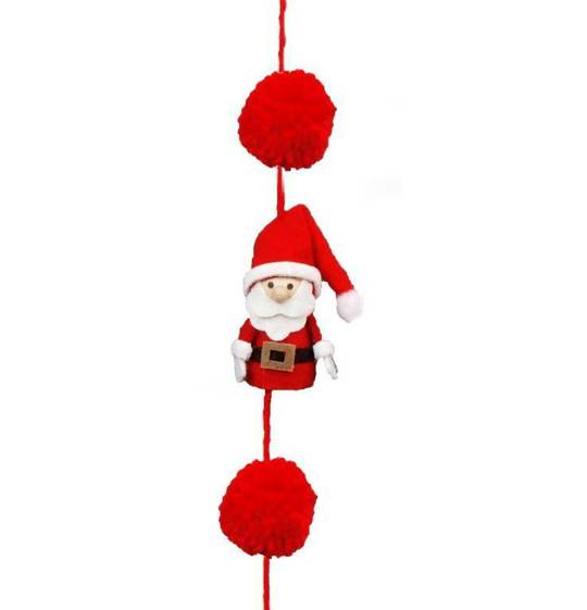Santa Black Belt Garland 1.6mtr
