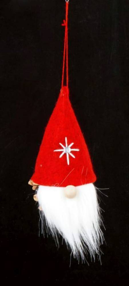 Hanging Scandi Santa, Pinecone