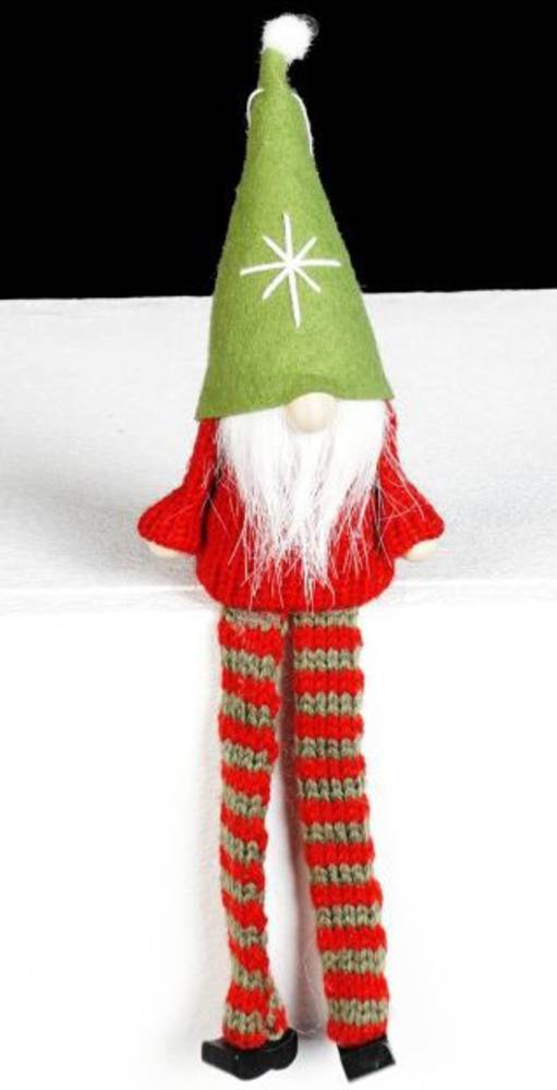 Santa Red Knit Jumper, Green Hat