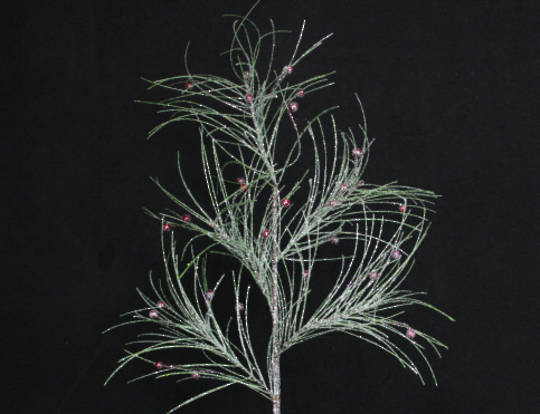Frosted Fir and Red Berry Spray 87cm