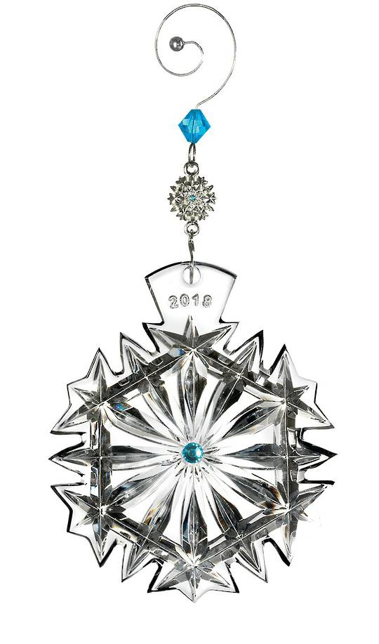 Snowflake Wishes Happiness 2018, Dated Ornament