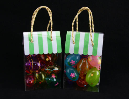 Glass Painted Mini Eggs Pack 12, 5x3cm