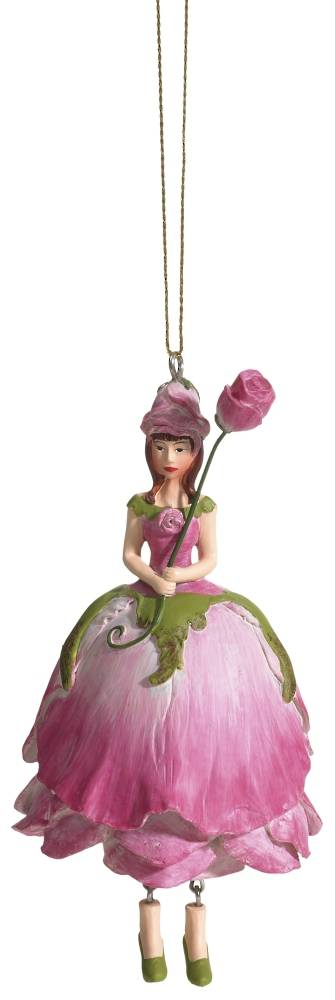 Hanging Flower Girl Rose Old Rose 12cm