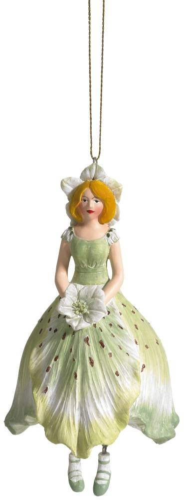 Hanging Flower Girl Christian Rose Lt Green 11cm