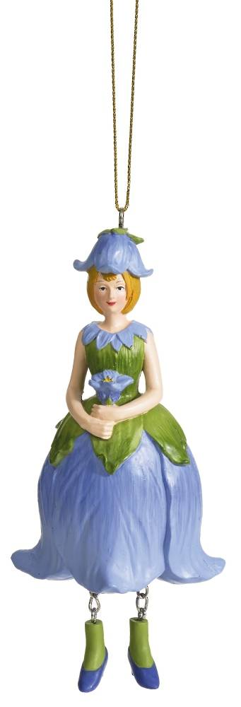 Hanging Flower Girl BellFlower Blue 12cm