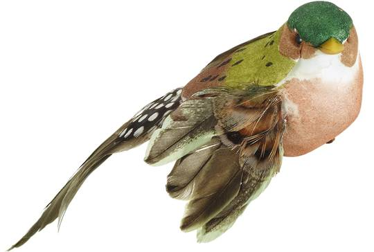 Green Finch Bird Clip 13cm