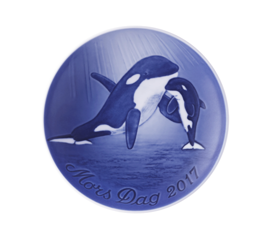 Bing & Grondahl Annual Mothers Day Plate, Mother & Baby Orca 2017