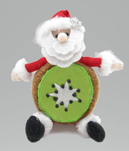 Iconic Hanging Fabric KiwiFruit Santa
