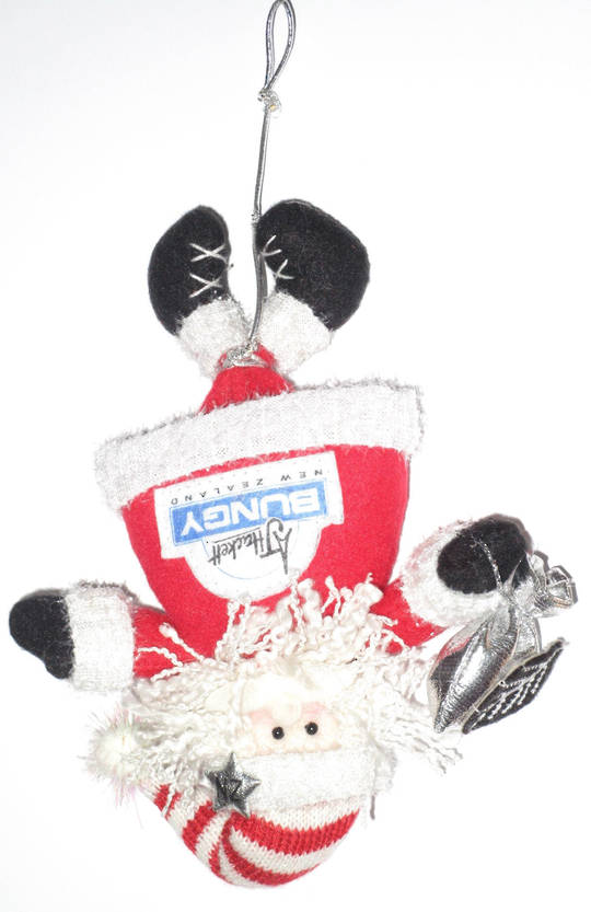 Iconic Hanging Fabric Bungy Santa