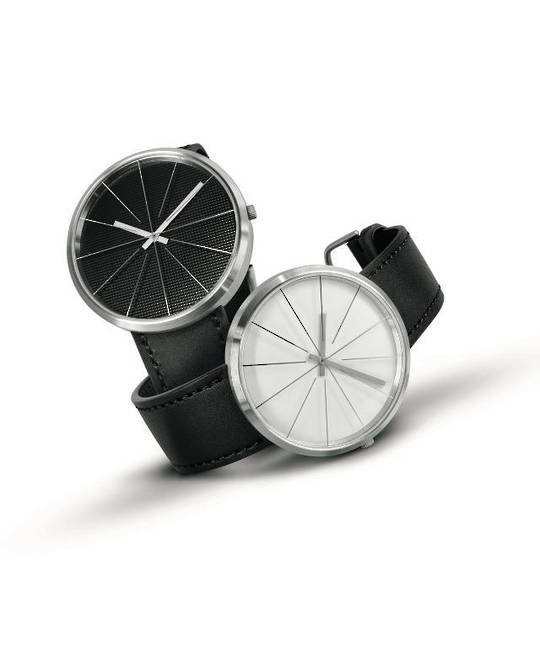 Pierre Junod,Carouge, Black Face 40mm Black Strap