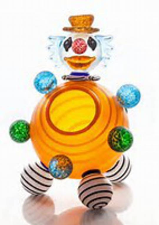 Artglass Clown Object. Orange