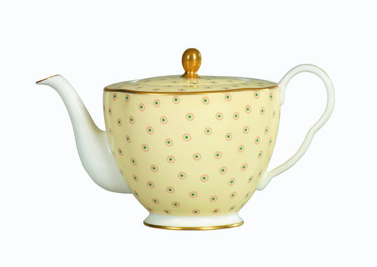 Polka Dot Yellow TeaPot