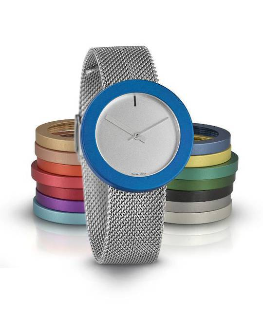 Pierre Junod Maxi Grey Face Steel Strap with 3 Colours
